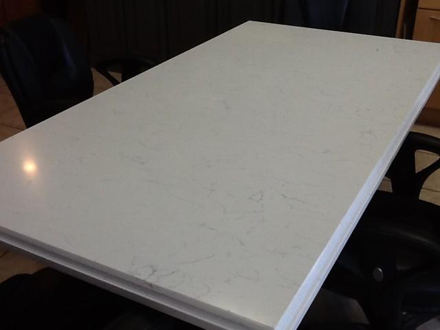 Pompeii quartz white lightning kitchen countertops for Engineered quartz countertop colors