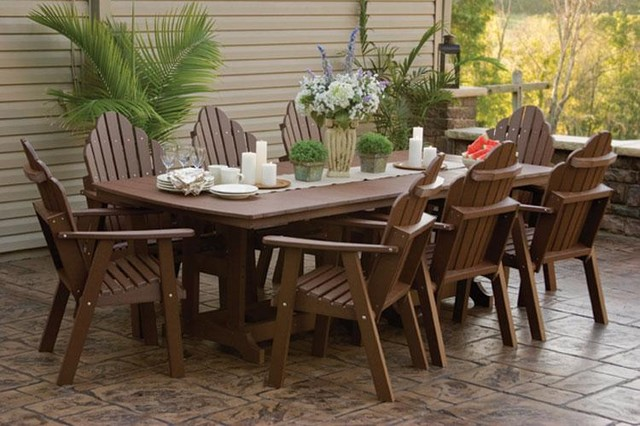 Orchid Polywood Outdoor Dining Set Tropical Outdoor Dining Sets tampa