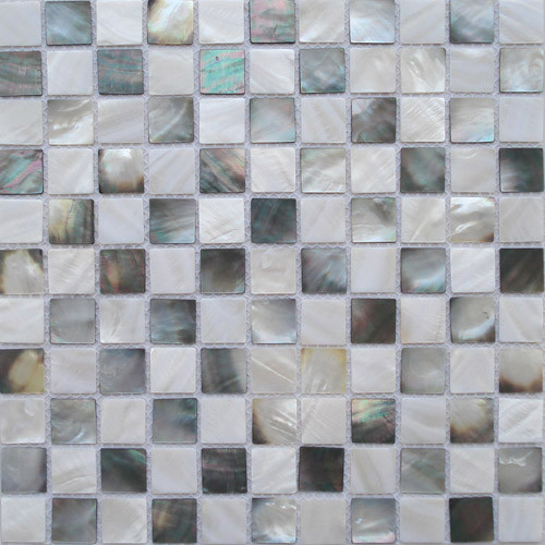 Seashell Backsplash Tile: Abysmal Seashell Tile Black White Kitchen Backsplash Tile