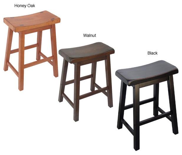 Saddle Seat 24 Inch Counter Stools Set Of 2