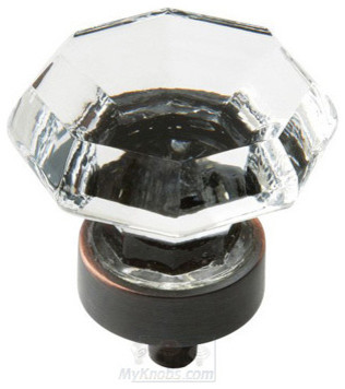 """Amerock - Luminous 1"""" Diameter Glass Knob in Oil Rubbed Bronze with Glass storage-units-and-cabinets"""