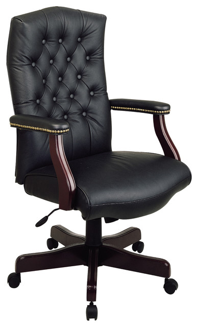 Executive leather office chair with padded arms modern office chairs