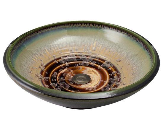 Indikoi Sinks LLC - SOHO: Vessel Mount Sink, Mocha Crystal - The Soho style is a low sleek vessel mount sink.