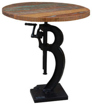 Industrial Adjustable Table - Industrial - Bar Tables - by YOSEMITE HOME DECOR