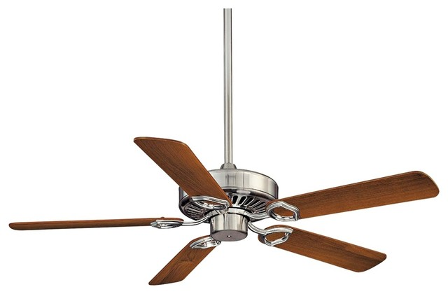 """Contemporary 54"""" Minka Aire Ultra-Max Brushed Nickel Ceiling Fan contemporary-ceiling-fans"""