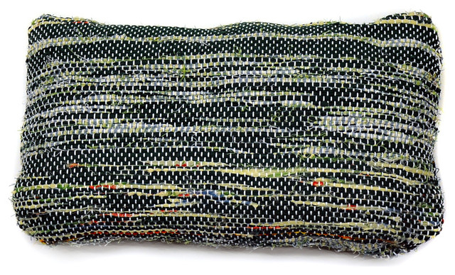Small Green Decorative Pillow : re:loom Handwoven Small Pillow, Blue/Yellow/Green/Red - Contemporary - Decorative Pillows - by ...