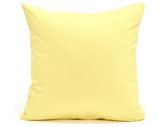 """Blooming Home Decor - Solid Yellow Accent / Throw Pillow Cover, 16""""x16"""" - (Available in 16""""x16"""", 18""""x18"""", 20""""x20"""", 24""""x24"""", 26""""x26"""", 12""""x20"""", 20""""x54"""")"""
