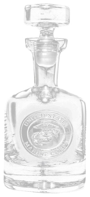 Marines Engraved Decanter, Whiskey, Scotch, Bourbon ...
