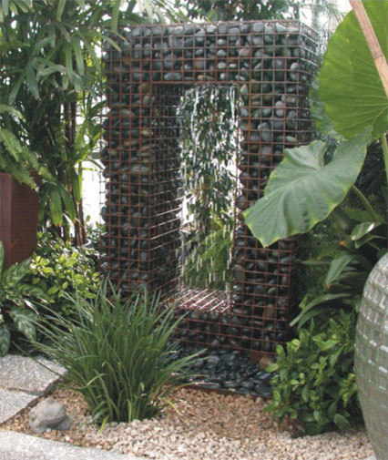 Gabion Water Fountain - Ancient Design Modern Fountain contemporary outdoor fountains