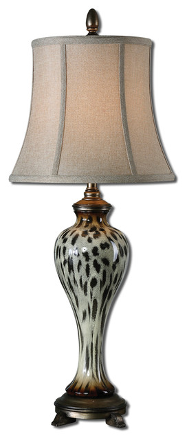 Malawi Cheetah Print Buffet Lamp traditional-table-lamps