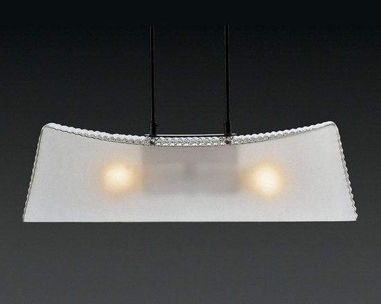 Kimilla Pendant Lamp by Penta Light - Kimilla Pendant Lamp by Penta Light. Lamps with metal structure in nickel satin. Shade in blown glass: transparent/mat or fumé. Wall lamps only transparent/ mat shade. Kimilla Pendant Lamp by Penta Light are designed by Umberto Asnago.