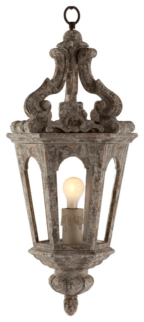 Edna French Country Antique Silver Pendant Lamp ...