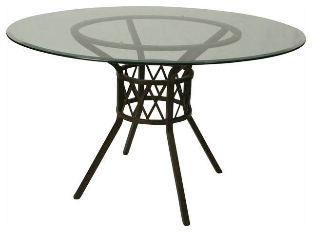 Round Glass Dining Table 48 Inches: Pastel Ravenwood 48 Inch Round Bevel Glass Dining Table In