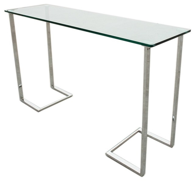 Allan copley designs edwin 52x16 rectangular console table for 52 glass table top