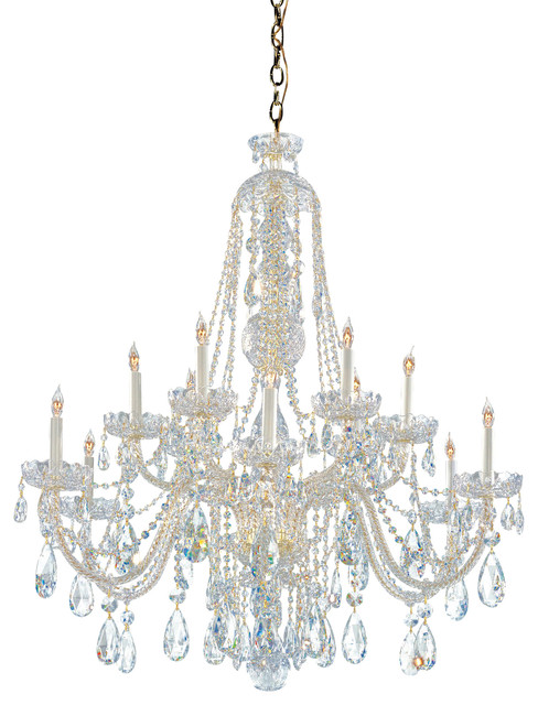 Crystorama 1112 pb cl saq traditional crystal chandelier traditional chandeliers by - Traditional crystal chandeliers ...