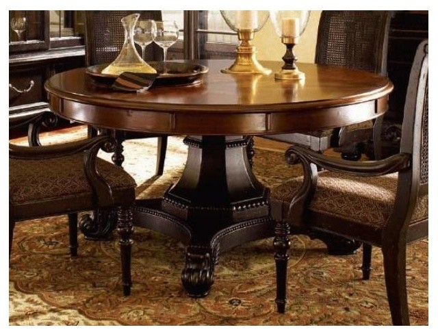 Bonaire round dining table traditional dining tables for Traditional dining table for 8