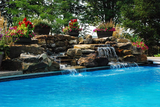 Water features rustic for Vive exterior design indianapolis