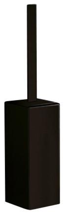 Square Matte Black Toilet Brush Holder contemporary-toilet-accessories