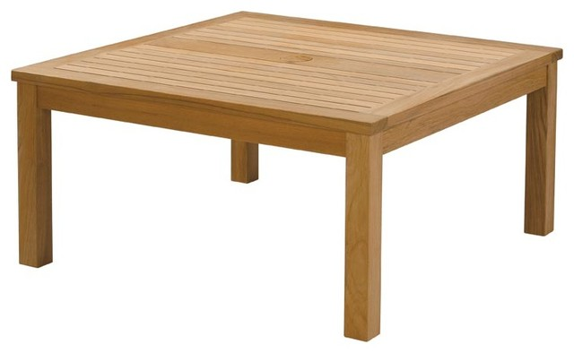 Barlow Tyrie - Haven Teak Square Conversational Table modern-outdoor-tables