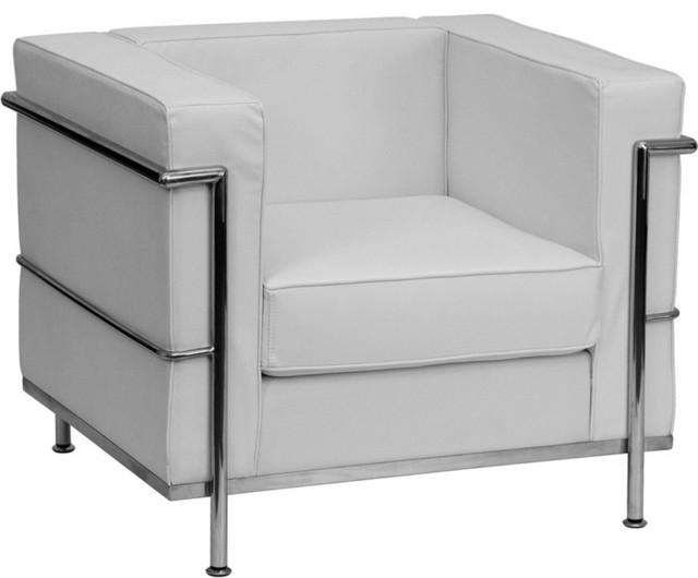 Le Corbusier Style Regal Series Contemporary White Leather Chair contemporary-chairs