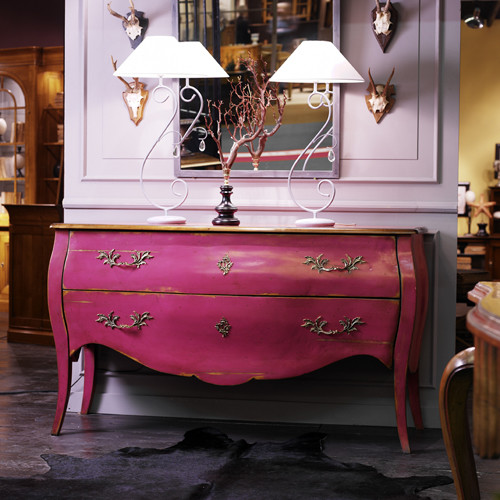 Pink Bailey Bombe Chest traditional dressers chests and bedroom armoires
