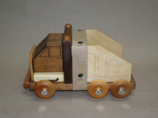 Wooden truck Meccano-toy kids-toys-and-games