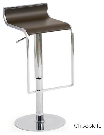 Alexander Adjustable Stool, Chocolate modern-bar-stools-and-counter-stools