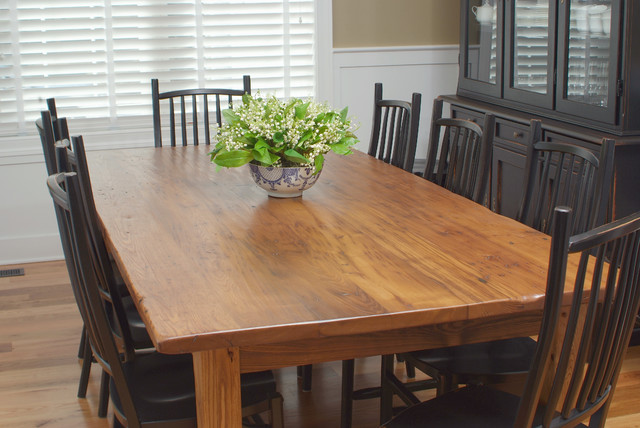 Antique Wormy Chestnut Farmhouse Dining Table traditional-dining-tables