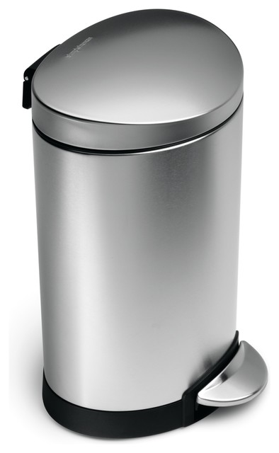 6 Litre Semi-Round Step Can modern-kitchen-trash-cans