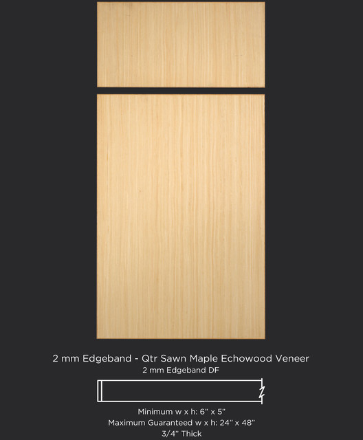 Quarter Sawn Maple Echowood Slab Veneer Cabinet Door Style - Contemporary - Kitchen Cabinetry ...