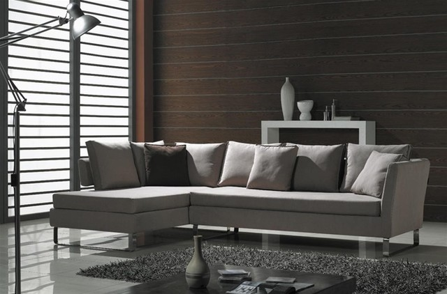 Cream Color Fabric Sectional modern-sectional-sofas