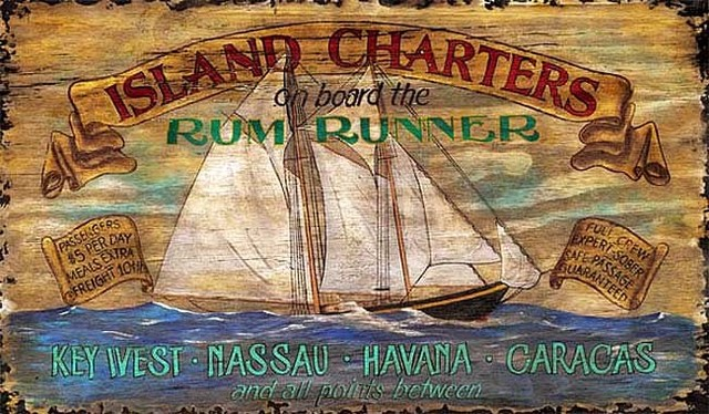 Nostalgic Vintage Signs Rustic Nautical Sailing Sign, Large  -Rum Runner, 20x3 rustic-dressers-chests-and-bedroom-armoires