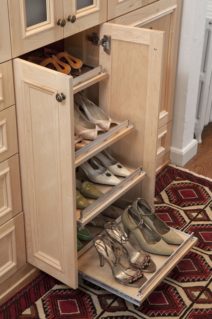 Slide-out Shoe Shelves - Eclectic - other metro - by transFORM | The Art of Custom Storage