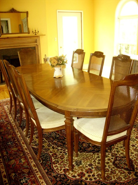 Vintage French Contemporary Dining Set Sits 8 10 Contemporary Dining Se