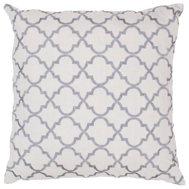 Modena Pillow, Gray & Charcoal Set of 2 contemporary-decorative-pillows