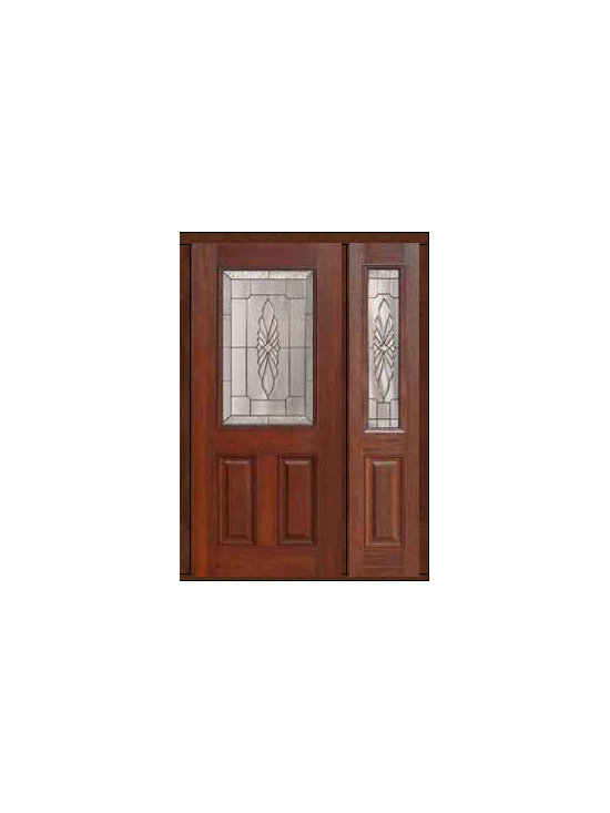 "Prehung Sidelight Door 80 Fiberglass Versailles 1/2 Lite Glass - SKU#    MCT01602_DFHV1-1Brand    GlassCraftDoor Type    ExteriorManufacturer Collection    1/2 Lite Entry DoorsDoor Model    VersaillesDoor Material    FiberglassWoodgrain    Veneer    Price    3265Door Size Options    32"" + 14""[3'-10""]  $032"" + 12""[3'-8""]  $036"" + 14""[4'-2""]  $036"" + 12""[4'-0""]  $0Core Type    Door Style    Door Lite Style    1/2 LiteDoor Panel Style    2 PanelHome Style Matching    Door Construction    Prehanging Options    PrehungPrehung Configuration    Door with One SideliteDoor Thickness (Inches)    1.75Glass Thickness (Inches)    Glass Type    Double GlazedGlass Caming    Satin NickelGlass Features    Tempered glassGlass Style    Glass Texture    Glass Obscurity    Door Features    Door Approvals    Energy Star , TCEQ , Wind-load Rated , AMD , NFRC-IG , IRC , NFRC-Safety GlassDoor Finishes    Door Accessories    Weight (lbs)    418Crating Size    25"" (w)x 108"" (l)x 52"" (h)Lead Time    Slab Doors: 7 Business DaysPrehung:14 Business DaysPrefinished, PreHung:21 Business DaysWarranty    Five (5) years limited warranty for the Fiberglass FinishThree (3) years limited warranty for MasterGrain Door Panel"
