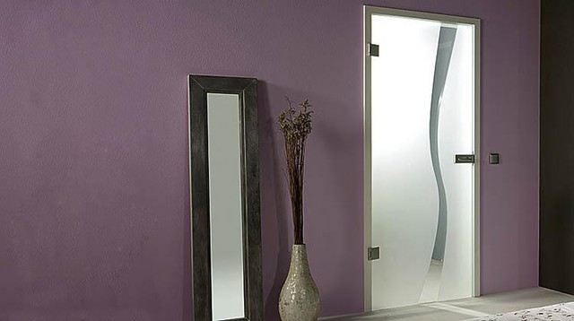 "Full Glass Doors - ""Wave"" - Modern - Hall - miami - by ..."