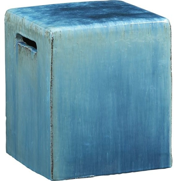 carilo blue garden stool contemporary accent and
