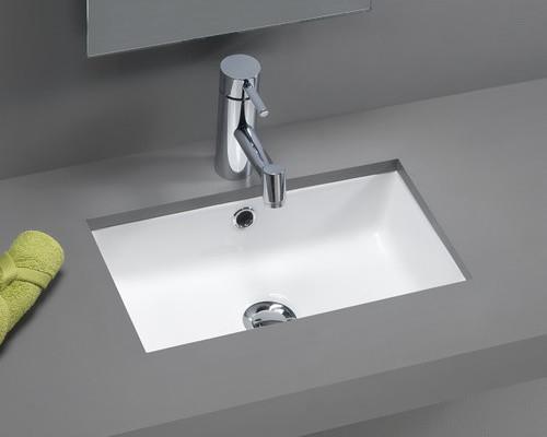 Traffic Agres Ceramic Mini Bathroom Sink in White modern-bath-products