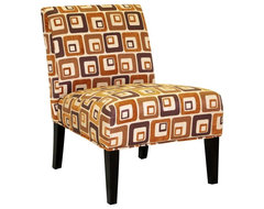 Darine Fabric Accent Chair - Orange Brick modern-living-room-chairs