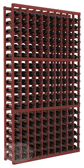 10 Column Standard Cellar Kit in Redwood with Cherry Stain traditional-wine-racks