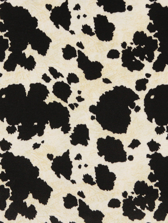 E414 Cow Animal Print Microfiber Fabric -