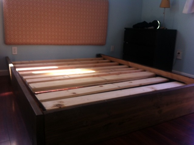 Diy platform bed contemporary other metro by plan for Simple diy platform bed