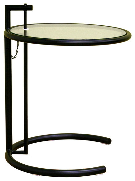 Baxton Studio Eileen Gray End Table in Black transitional-side-tables-and-end-tables