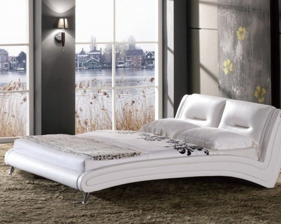 Belle Bed Frame - Sophisticated styling meets contemporary comfort in the Belle Leather Bed Frame. The clean modern look and high quality construction ensure that you will enjoy this piece for years to come.