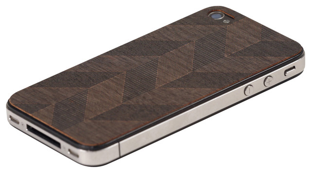 Chevron iPhone Cover, Black modern-home-decor