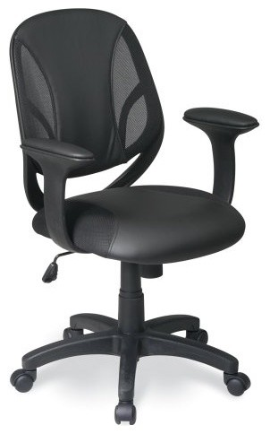 Office Star Work Smart Screen Back Managers Chair with Black Urethane and Mesh S contemporary-office-chairs