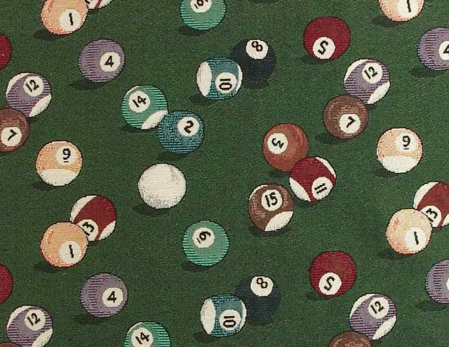 Billiards 8-Ball Upholstery Fabric - Woven Jacquard traditional-upholstery-fabric
