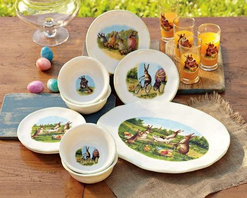 Easter Story Time Dinnerware Collection traditional dinnerware