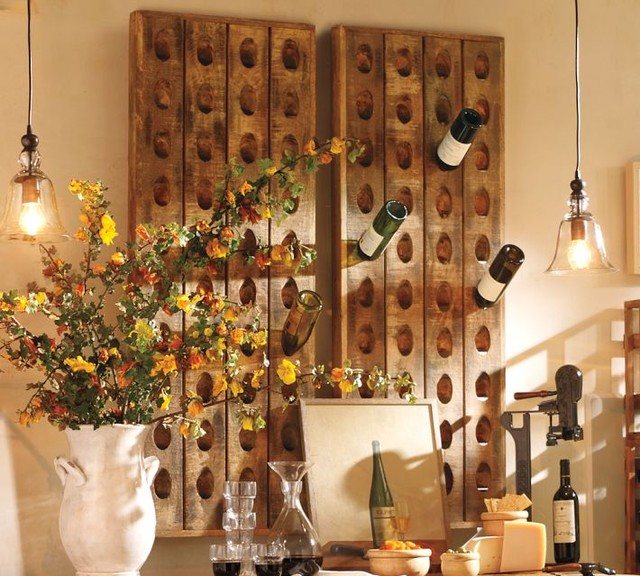 French Wine Bottle Riddling Rack traditional wine racks